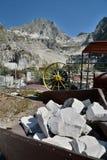 Museo della cava del marmo di Fantiscritti Alpi di Apuan tuscany L'Italia Fotografia Stock