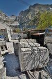 Museo della cava del marmo di Fantiscritti Alpi di Apuan tuscany L'Italia Fotografia Stock Libera da Diritti