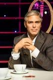 Museo della cera di George Clooney Figurine At Madame Tussaud Fotografie Stock
