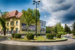 Museo della città e della rotonda nella città di Subotica, Serbia fotografie stock
