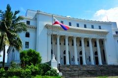 Museo della facciata filippina della gente a Manila, Filippine Fotografie Stock Libere da Diritti