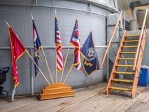 Museo della nave da guerra di USS Missouri Immagine Stock