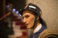 Museo delle figure di cera a Barcellona sul Las Ramblas della via Fotografia Stock