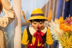 Museo delle figure di cera a Barcellona sul Las Ramblas della via Immagini Stock