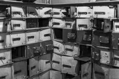 Museo delle figure di cera a Barcellona sul Las Ramblas della via La progettazione del furto del deposito della banca nei giorni  Immagine Stock