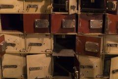 Museo delle figure di cera a Barcellona sul Las Ramblas della via La progettazione del furto del deposito della banca nei giorni  Immagine Stock Libera da Diritti