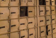 Museo delle figure di cera a Barcellona sul Las Ramblas della via La progettazione del furto del deposito della banca nei giorni  Immagini Stock Libere da Diritti