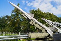 Museo delle forze della difesa aerea Sistema missilistico C-75 della difesa aerea Immagine Stock