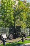 Museo delle forze della difesa aerea Soviet pistola M1939 52-K della difesa aerea da 85 millimetri Fotografie Stock