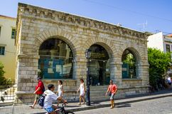 Museo di Archelogy di Rethymno fotografie stock libere da diritti