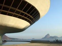 Museo di arte contemporaneo del ³ i di Oscar Niemeyerâs Niterà Fotografia Stock Libera da Diritti