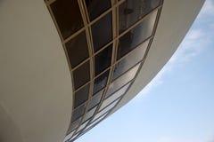 Museo di arte contemporaneo di Niteroi dell'Oscar Niemeyer fotografia stock libera da diritti