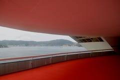 Museo di arte contemporaneo di Niteroi dell'Oscar Niemeyer Fotografie Stock