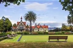 Museo di arte e storia del Distretto di Rotorua Fotografie Stock