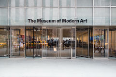Museo di arte moderna NYC Immagini Stock Libere da Diritti