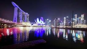 Museo di ArtScience e di Marina Bay Sands Hotel video d archivio