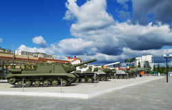 Museo di attrezzatura militare fotografie stock