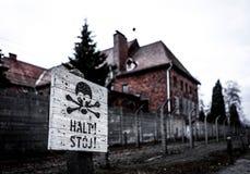 Museo di Auschwitz-Birkenau fotografia stock