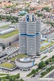 Museo di BMW e la fabbrica di BMW, Monaco di Baviera Immagine Stock Libera da Diritti