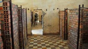 Museo di genocidio di Tuol Sleng, Phnom Penh, Cambogia. Fotografia Stock