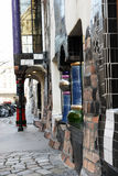 Museo di Hundertwasser a Vienna fotografia stock libera da diritti