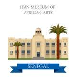 Museo di IFAN delle arti africane a Dakar senegal fla illustrazione vettoriale