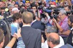 Museo di inaugurazione F1 del driver Fernando Alonso Fotografia Stock Libera da Diritti