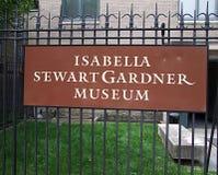 Museo di Isabella Stewart Gardner Fotografia Stock Libera da Diritti