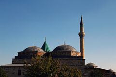 Museo di Mevlana in Konya Turchia fotografia stock libera da diritti
