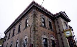 Museo di Music Box di Otaru ed orologio dell'annata immagini stock libere da diritti