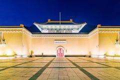 Museo di palazzo nazionale alla notte Fotografia Stock Libera da Diritti