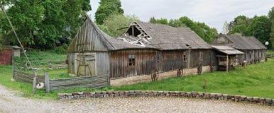 Museo di retro attrezzatura agricola Fotografia Stock Libera da Diritti
