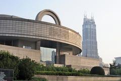 Museo di Shanghai al tramonto Immagini Stock