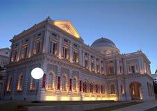 Museo di storia di Singapore alla sera Immagini Stock Libere da Diritti