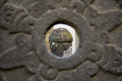 Museo Dolores Olmedo aztec rzeźbi instalacyjnego widok Zdjęcia Royalty Free