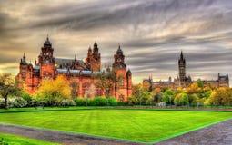 Museo e Glasgow University di Kelvingrove Immagini Stock Libere da Diritti