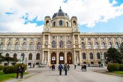 Museo e la gente di storia naturale che camminano intorno a Vienna, Austria Fotografie Stock