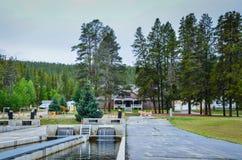 Museo e stagni - incubazione nazionale del pesce - Leadville, CO Fotografia Stock Libera da Diritti