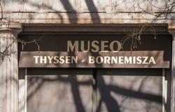 Museo famoso Thyssen Bornemisza a Madrid fotografia stock