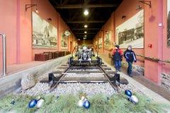 Museo ferroviario letón de la historia Imagen de archivo libre de regalías