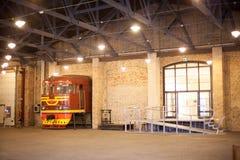 Museo ferroviario letón de la historia Fotografía de archivo