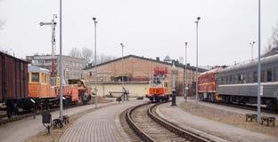 Museo ferroviario letón de la historia Fotos de archivo
