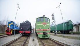 Museo ferroviario letón de la historia Fotos de archivo libres de regalías