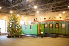Museo ferroviario letón de la historia Foto de archivo