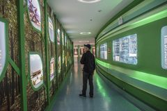 Museo geológico del clavo de oro de Zhejiang Changxing foto de archivo libre de regalías