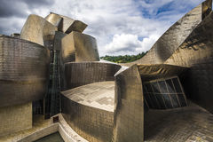 Museo Guggenheim dall'architetto Frank Gehry a Bilbao Immagini Stock Libere da Diritti