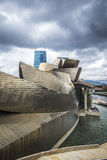 Museo Guggenheim dall'architetto Frank Gehry a Bilbao Fotografia Stock Libera da Diritti