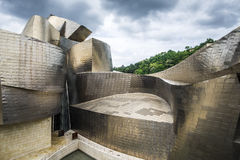 Museo Guggenheim dall'architetto Frank Gehry a Bilbao Immagine Stock Libera da Diritti