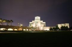 Museo hermoso del arte islámico en Doha, Qatar en la noche Fotos de archivo