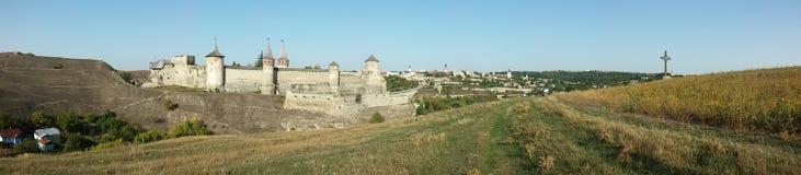 Museo histórico de la fortaleza de Kamenets-Podolskiy Foto de archivo libre de regalías